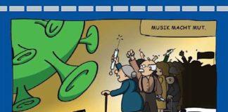 Corona-Konzert-Plakat des Landespolizeiorchesters Hessen (Foto: Polizei Hessen)