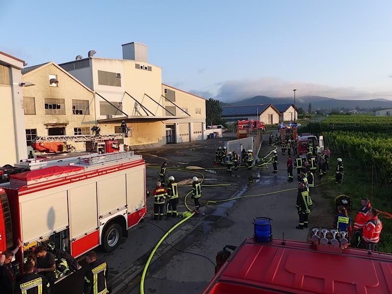Die Einsatzstelle am Morgen (Foto: Feuerwehr Neustadt)