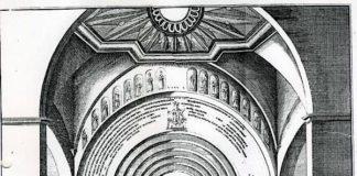 Dom Speyer; Romanischer Westbau vor Abbruch; Kupferstich von 1756 nach einer Zeichnung des Stadtschreibers P.H. Blum (Foto: Universitätsbibliothek Heidelberg)