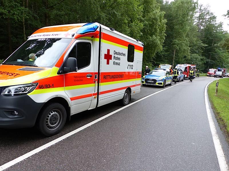 Einsatzfahrzeuge vor Ort (Foto: Feuerwehr Neustadt)