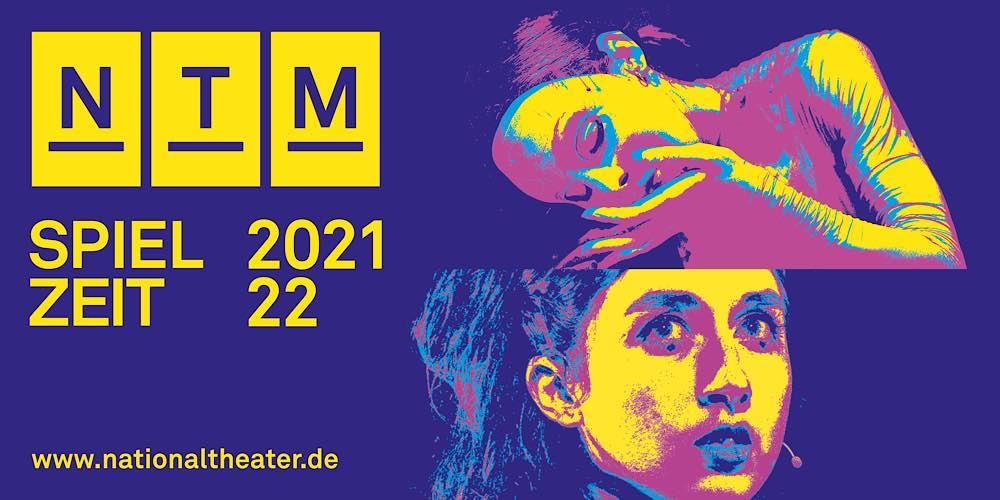 Bannergrafik Spielzeit 2021/22 (Quelle: Nationaltheater Mannheim)