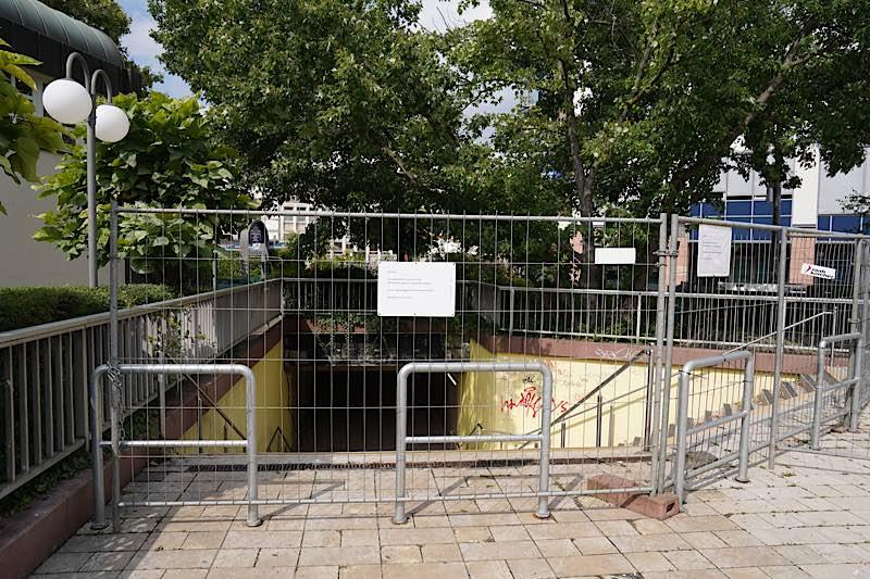 Die Saalbauunterführung ist zur Zeit gesperrt (Foto: Holger Knecht)