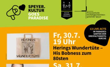 Veranstaltungsplakat (Foto: Stadt Speyer)