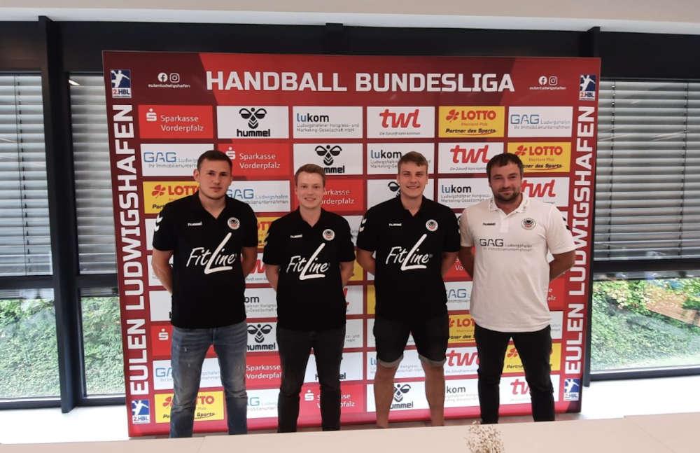 Vorstellung von drei Spielern und des Trainers (Foto: Die Eulen Ludwigshafen)