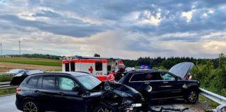 Die Unfallstelle auf der BAB 6 (Foto: Polizei RLP)