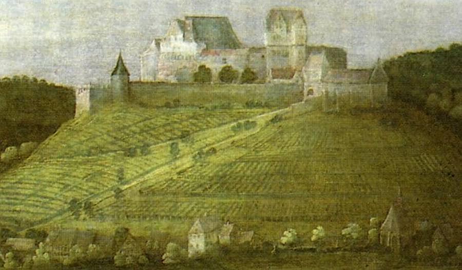 Burg Winzingen um 1610 (Ausschnitt aus einem Gemälde)