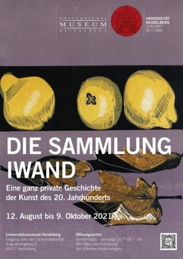Flyer Sonderausstellung Sammlung Iwand (Quelle: Universität Heidelberg)