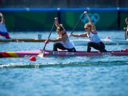 Lisa Jahn (vorne) und Steuerfrau Sophie Koch haben ein perfektes Finale gefahren, leider reichte es nur knapp nicht zu Bronze (Foto: DKV/Philipp Reichenbach)