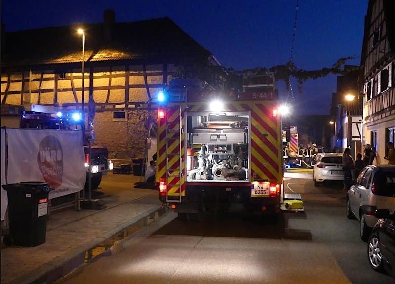 Einsatz in Lachen-Speyerdorf. (Foto: Feuerwehr Neustadt)