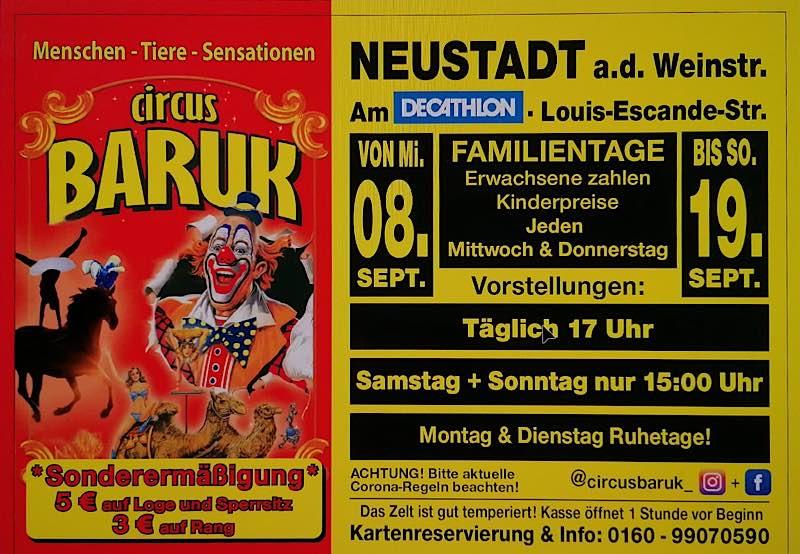 Circus Baruk im September 2021 in Neustadt an der Weinstraße