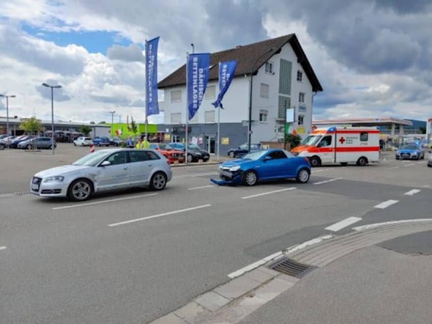 Unfallstelle in der Bruchstraße, Bad Dürkheim (Foto: Polizei RLP)
