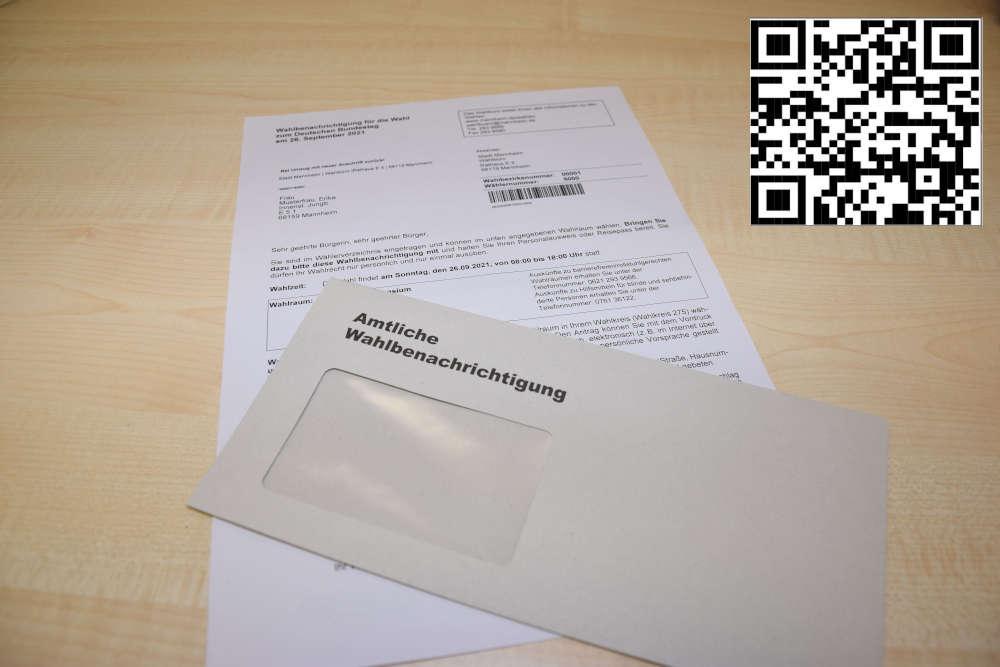 Die Wählerverzeichnisse sind erstellt. Die Wahlbenachrichtigungen werden bis zum 5. September zugestellt. (Foto: Stadt Mannheim)