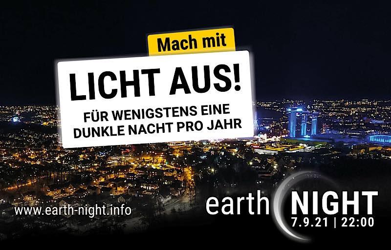 Licht aus! am 07.09.2021 (Quelle: earth-night.info)