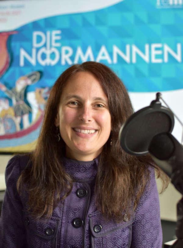 Projektleiterin Dr. Viola Skiba beim Podcast-Gespräch (Foto: rem)