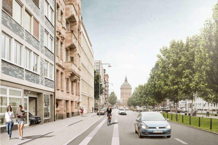 Visualisierung Radweg Augustaanlage (Foto: Stadt Mannheim)