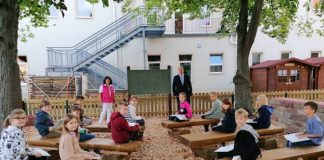 Das grüne Klassenzimmer an der Schillerschule in Haßloch wurde reaktiviert und kann seit Kurzem wieder genutzt werden. (Foto: Gemeindeverwaltung Haßloch)