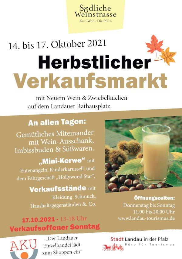 Plakat Herbstlicher Verkaufsmarkt 2021
