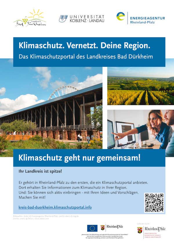 Plakat Klimaschutzportal DÜW