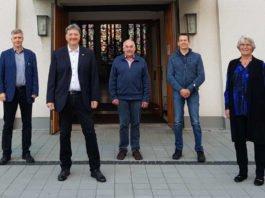 Stephan Oberlinger, Michael Landgraf, Gerd Rieger, Peter Schütt, Susanne Kirchner. (Foto: Pfälzischer Bibelverein)