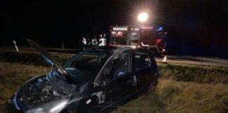 Vom Unfall beschädigter Pkw (Foto: Polizei RLP)